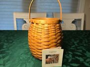 Longaberger 2000 October Fields Basket Beehive Shape Great Condition