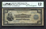 1915 20 Frbn Fr-826 ♚♚ Kansas City ♚♚ Pmg Fine 12 Rare Note Only 32 Known