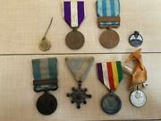 Ww2 Former Japanese Army Military Medal 8 Set Antique Japan Collection Ju151