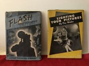 """Antique Lot 2 7"""" Hc Dj Books Flash Photography Aand Lighting Your Pictures 1940and47"""