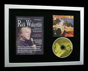 Rick Wakeman+yes+signed+framed+grace+wives+swan=100 Authentic+fast Global Ship