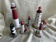 Lot Of 6 Lefton Lighthouse Figurines Nj Shore And More