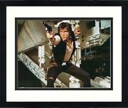 Framed Harrison Ford Star Wars Autographed 16 X 20 Shooting Photograph Bas