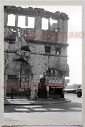 50s Philippines Spanish Usa Colonial Building Ads Sign Coke Vintage Photo 26239