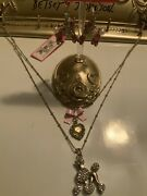 Betsey Johnson Paris Is Always A Good Idea French Poodle Necklace Earrings Lot