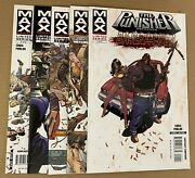 The Punisher Barracuda 1 2 3 4 5 Complete Set Run Lot Marvel Max 2007 Ennis