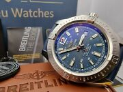 2016 Breitling Colt A17388 Box And Papers 44mm Automatic Blue And039vinyland039 Dial
