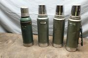 Vintage Lot Of 4 Aladdin Stanley1960's Metal Thermoses - 5b1