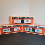 Vintage Lionel Electric Trains Holiday Boxcar Lot Of 3 Nrfb New In Box Christmas