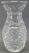 Vintage Signed Waterford Glandore Pattern Cut Crystal 5 1/2 Inch Tall Vase