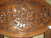 Table Hand Carved Wood Coffee Table And Personal Tables Japan 1940and039s