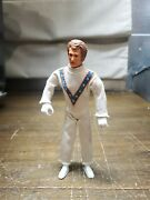 Vintage 1972 Evel Knievel 7andrdquo Bendable Figure White Suit Ideal Toy