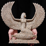 Pharaonic Egyptian Antique Antiques Egypt Antiquities Winged Isis Statue -w384