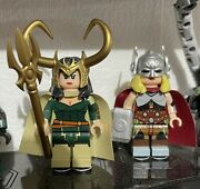 Brothers Figure X Lady Loki And Lady Thor Lego Minifigure Two Pack