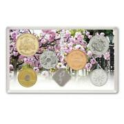 2021 Japan 6-coin Cherry Blossom Viewing Bu Unc Set Reiwa 3 With Silver Medal