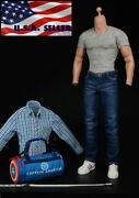 1/6 Captain America Shirt Jeans Bag Clothing Set For 12 Hot Toys Male Figure
