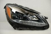 Perfect Complete 14-16 Mercedes E Class Static Led Headlight Right Rh Pass Oem