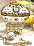 One Only Faberge Egg Gift For Grandma And Faberge Necklace 24k Emerald Birthday