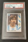2006 Panini Germany World Cup 185 Lionel Messi Rookie Sticker Psa Mint 9