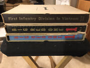 First Infantry Division In Vietnam Rare Complete Original 3 Volumes In Boxes