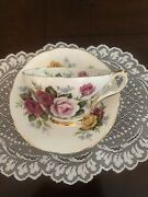 Royal Sutherland Bone China Made In Staffordshire England Cup And Saucer