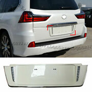For Lexus Lx570 2016-2021 Pearl White License Plate Frames To Trd Style W/ Led