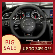 Smooth Leather And Perforated Steering Wheel For 2012+ Audi Rs3 Rs4 Rs5 S3 S4 S5
