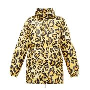 Moncler Ladies Richard Quinn Mary Leopard-print Quilted Jacket Brand Size 0