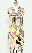 Vintage 1960s Women's Emilio Pucci Lord And Taylor Sleeveless Geometric Dress 6