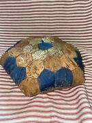 Antique Victorian Early Sewing Accessory Large Rare Pin Cushion