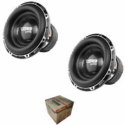 2 X Ds18 Hooligan X 15 12000 W 4dvc 1 Ohm High Excursion Competition Subwoofer