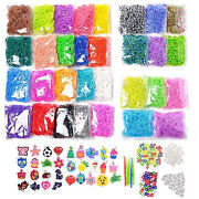 Color Loomy Rubber Band Diy 17000 Piece Refill Kit With Loom Kit Accessories