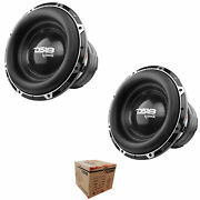 2 X Ds18 Hooligan X 15 12000 W 4dvc 4 Ohm High Excursion Competition Subwoofer