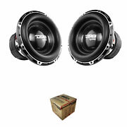 2 X Ds18 Hooligan X 15 12000 W 4dvc 2 Ohm High Excursion Competition Subwoofer