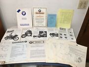 Huge Lot Of 1950-1960andrsquos Bmw Motorcycle Advertising And Dealer Ephemera