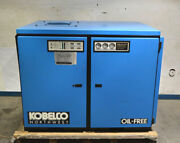 Kobelco Knw O-d/l 75-hp 2-stage Rotary-screw Air Compressor Oil-free Water-cool
