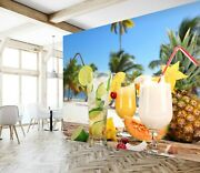 3d Drink Pineapple Zhu4209 Wallpaper Wall Mural Removable Self-adhesive Zoe