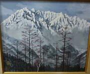 Enomoto Good One White Peak Mt. Hotaka With Autograph Painting Colored Paper