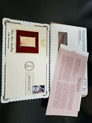Postal Commemorative Society Gold U.s. Stamp Collection, 4 Each, See Images.