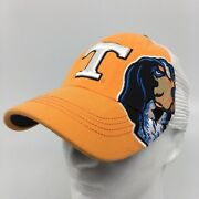 Tennessee Vols Orange White Smokey Mascot Top Of The World One Fit Hat Ncaa
