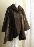 Amazing Carter And Teri Couture L Xl 1x Brown Black Woven Swing Coat Jacket Lux