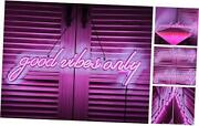 Good Vibes Only Led Neon Signs Art Wall Lights For Beer Bar Club Bedroom