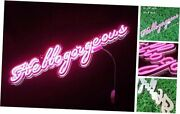 Pink Hello Gorgeous Led Neon Signs Art Wall Lights For Beer Bar Club Pink_h