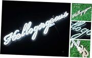White Hello Gorgeous Led Neon Signs Art Wall Lights For Beer Bar Club White_h