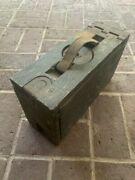 One Antique Vintage World War One Wooden Ammo Box, Pre-owned