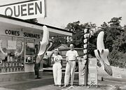 Dairy Queen Diner Photo Vintage Restaurant Sign Burger Joint Shakes Ice Cream,