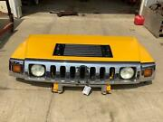 03-07 Hummer H2 Complete Hood W/ Lights And Grille Yellow 43u