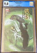 The Immortal Iron Fist 1 Cgc 9.0 Dell'otto 2nd Print Variant Cover Marvel 2007