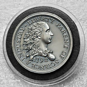 1792 Birch One Cent Us Tribute 2oz .999 Silver Antiqued Round With Capsule