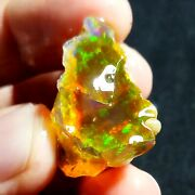 See Video 62 Cts Natural Crystal Welo Fire Ethiopian Opal Rough28x25x19mmz184